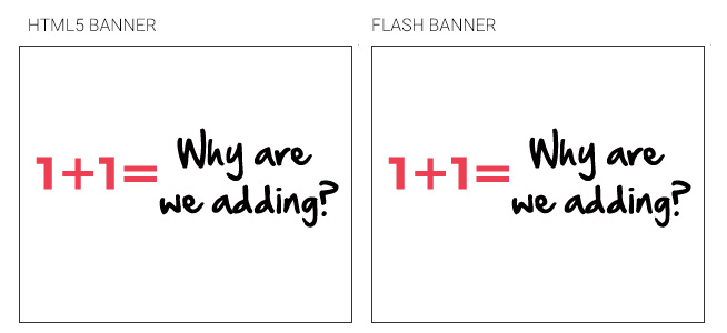 HTML5 Ads Against Flash Ads